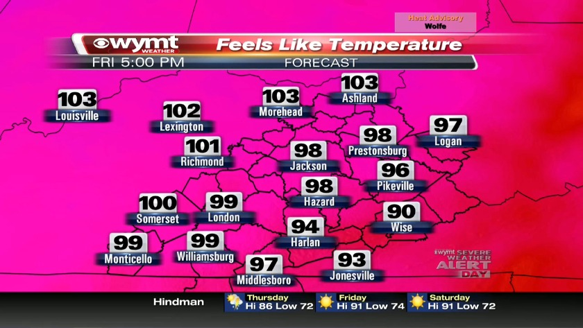 Dangerous heat moves into the mountains, Severe Weather Alert Day issued